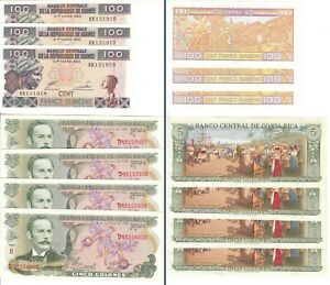 Click now to see the BUY IT NOW Price! LOT OF 6 SERIES OF WORLD BANKNOTES WITH CONSECUTIVE   24 BANKNOTES
