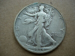 1934 D VF CLEANED BETTER DATE WALKING LIBERTY SILVER HALF DOLLAR L29