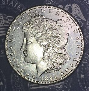 1894 S MORGAN SILVER DOLLAR PROOF LIKE COLLECTOR COIN.