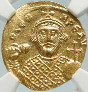Click now to see the BUY IT NOW Price! LEONTIUS AUTHENTIC ANCIENT 695AD GOLD BYZANTINE SOLIDUS COINS NGC MS I84778