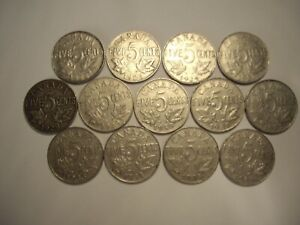 A CANADA GEORGE V 1922   1936 FIVE CENTS   LOT OF 13 COINS
