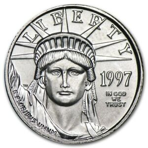 1997 1/10 OZ PLATINUM AMERICAN EAGLE   BRILLIANT UNCIRCULATED BU  W/ CAPSULE