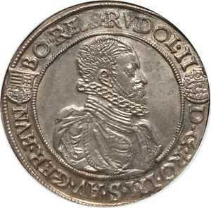 Click now to see the BUY IT NOW Price! HUNGARY 1590 KB RUDOLPH II THALER / TALER NGC MS 63