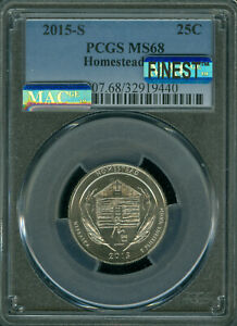 Click now to see the BUY IT NOW Price! 2015 S HOMESTEAD QUARTER PCGS MS68 PQ MAC FINEST REGISTRYB MAC SPOTLESS .
