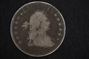 1806/5  OVERDATE  FINE    DRAPED BUST QUARTER    COIN