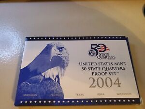 2004 S US PROOF SET   5 PCS STATE QUARTERS ONLY