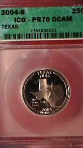Click now to see the BUY IT NOW Price! PERFECT  2004 S TEXAS STATE QUARTER  PF 70 DCAM   320A8