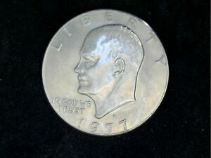 1977 D EISENHOWER [2] COINS AND [3] HALF DOLLARS ERROR]