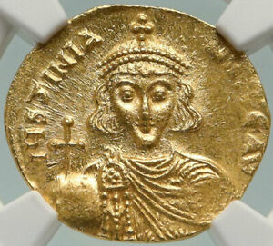 Click now to see the BUY IT NOW Price! JUSTINIAN II GENUINE ANCIENT 686AD GOLD BYZANTINE SOLIDUS COIN CROSS NGC I84934