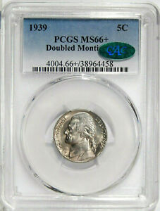 Click now to see the BUY IT NOW Price! 1939 DBL MONTICELLO 5C PCGS MS 66  CAC   LOW POP JEFFERSON NICKEL VARIETY