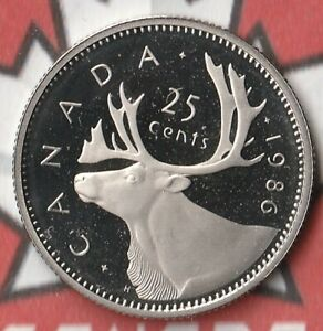 1986 CANADA QUARTER  25 CENTS  PROOF  175 000 MINTED