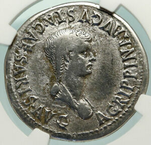 Click now to see the BUY IT NOW Price! CLAUDIUS & AGRIPPINA II JR 50AD SILVER EPHESUS CISTOPHORUS ROMAN COIN NGC I85144