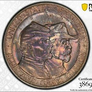 1936 GETTYSBURG PCGS MS 66   NEAT CIVIL WAR THEME COMMEMORATIVE HALF DOLLAR