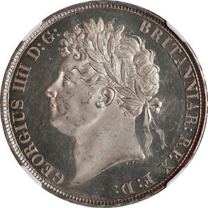 Click now to see the BUY IT NOW Price! GREAT BRITAIN 1821 GEORGE IV DEEP MIRROR PROOF LIKE SILVER CROWN NGC MS 62