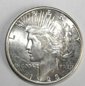 1923 S PEACE SILVER DOLLAR UNCIRCULATED