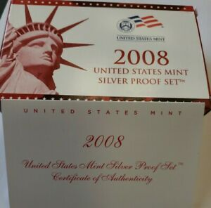COMPLETE 2008 UNITED STATES MINT SILVER PROOF SET