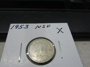 1953 NSF   CANADA DIME   SILVER CANADIAN 10 CENT