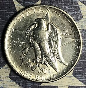 1934 TEXAS COMMEMORATIVE SILVER HALF DOLLAR