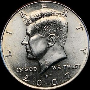 1 2007 P KENNEDY HALF DOLLAR UNCIRCULATED CONDITION BEAUTIFUL COIN