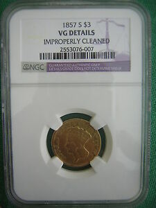 NGC 1857 S  $3.00 PRINCESS GOLD PIECE  ONLY 14 000  MINTED