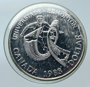 Click now to see the BUY IT NOW Price! 1988 CANADA UK QUEEN ELIZABETH II EDMONTON UNIVER GAMES PROOF SILVER COIN I85652