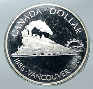 Click now to see the BUY IT NOW Price! 1986 CANADA VANCOUVER WITH UK QUEEN ELIZABETH II TRAIN PROOF SILVER COIN I85654