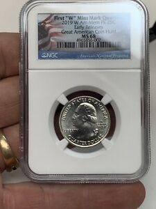Click now to see the BUY IT NOW Price! 2019 W AMERICAN MEMORIAL PARK QUARTER EARLY RELEASE NGC MS 68 POP 9