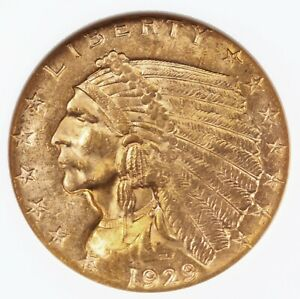 1929 INDIAN $2.50 NGC CERTIFIED MS63