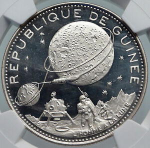Click now to see the BUY IT NOW Price! 1969 GUINEA SPACE NASA MOON LANDING OLD PROOF SILVER 250 FRANCS COIN NGC I85993