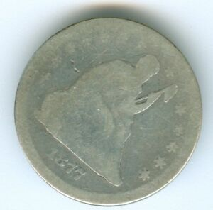 1877  SEATED LIBERTY QUARTER QUARTER