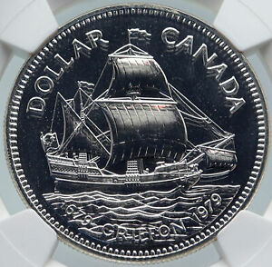 Click now to see the BUY IT NOW Price! 1979 CANADA UK QUEEN ELIZABETH II GRIFFON SHIP 300Y PROOF SILVER COIN NGC I86018