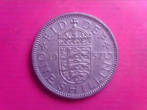 GREAT BRITAIN ONE SHILLINGS 1957        SEP04