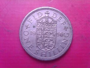 GREAT BRITAIN ONE SHILLING 1956    SEP07