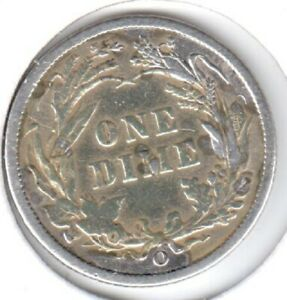 1898 O FINE BARBER DIME 3 DISCOUNTED FOR DIGS AND SCRATCHES