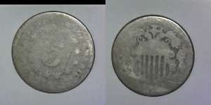 DATELESS SHIELD NICKEL WITH SOME VISIBLE DETAIL