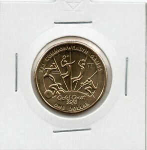 2018 AUSTRALIAN  $1 GOLD COAST XXI COMMONWEALTH GAMES UNC COIN