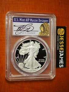 2012 W PROOF SILVER EAGLE PCGS PR70 DCAM THOMAS CLEVELAND SIGNED CHIEF LABEL