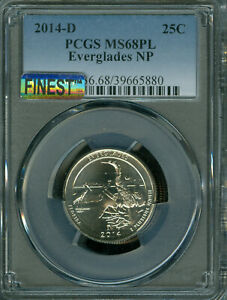 Click now to see the BUY IT NOW Price! 2014 D EVERGLADES PCGS MS68 PL MAC FINEST & MAC SPOTLESS POP 3 .