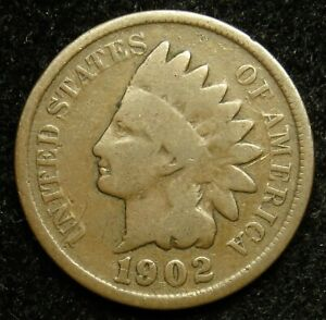1902 INDIAN HEAD CENT PENNY G GOOD  B01