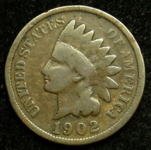 1902 INDIAN HEAD CENT PENNY G GOOD  B04