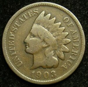 1903 INDIAN HEAD CENT PENNY G GOOD  B02