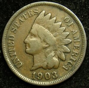 1903 INDIAN HEAD CENT PENNY G GOOD  B03