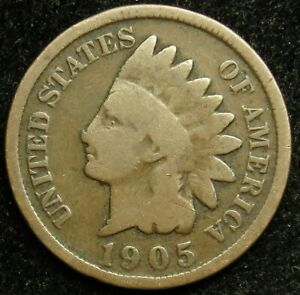 1905 INDIAN HEAD CENT PENNY G GOOD  B01