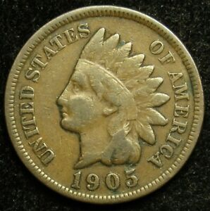 1905 INDIAN HEAD CENT PENNY VG GOOD  B02