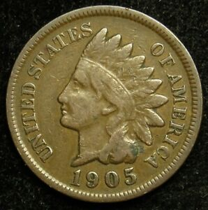 1905 INDIAN HEAD CENT PENNY VG GOOD  B03