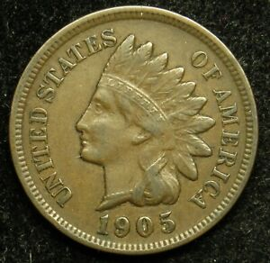 1905 INDIAN HEAD CENT PENNY VF FINE  B05