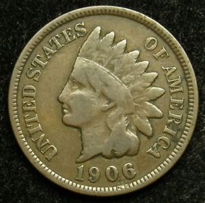 1906 INDIAN HEAD CENT PENNY G GOOD  B02