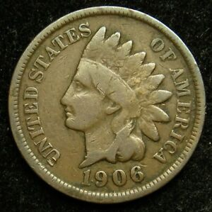 1906 INDIAN HEAD CENT PENNY G GOOD  B03