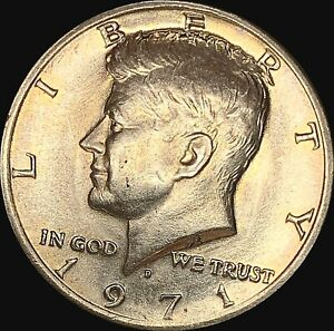 1 1971 D KENNEDY HALF DOLLAR UNCIRCULATED CONDITION   FAST SHIPPING