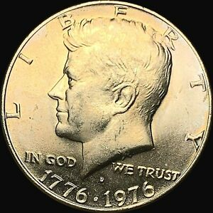 1971 1976 D KENNEDY HALF DOLLAR UNCIRCULATED CONDITION   FAST SHIPPING